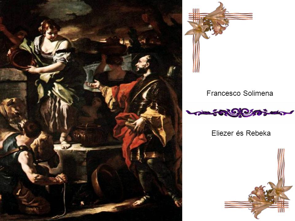 Francesco Solimena Eliezer és Rebeka