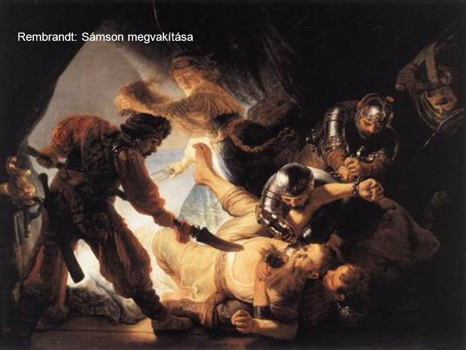 Rembrandt: Sámson megvakítása