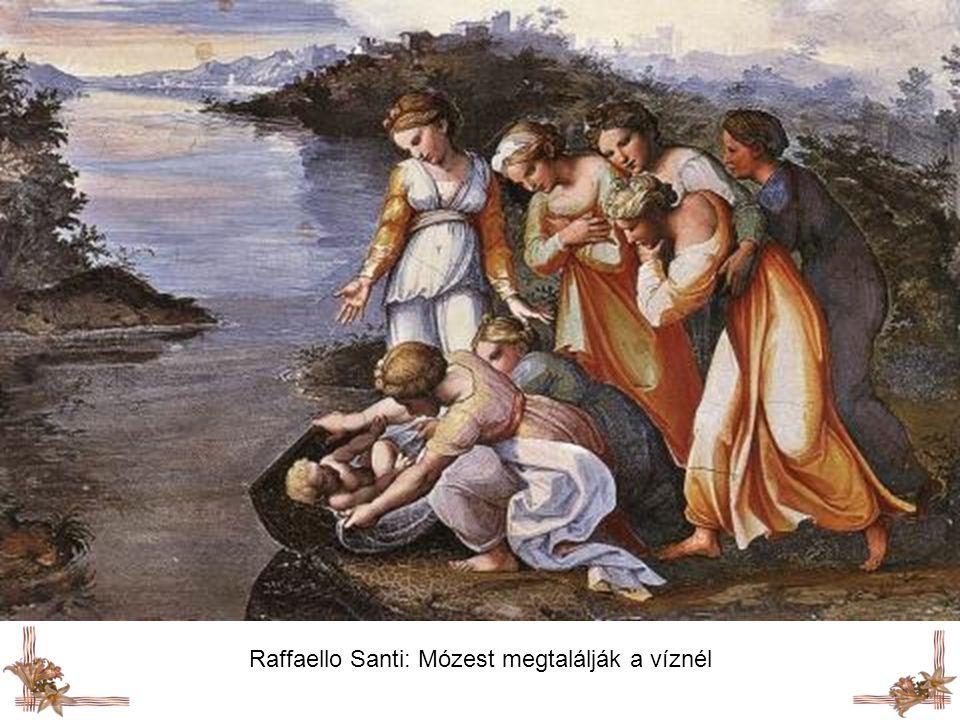 Raffaello Santi: Mózest megtalálják a víznél