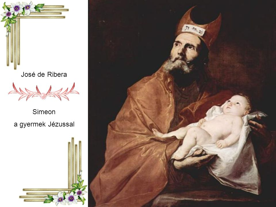 José de Ribera Simeon a gyermek Jézussal