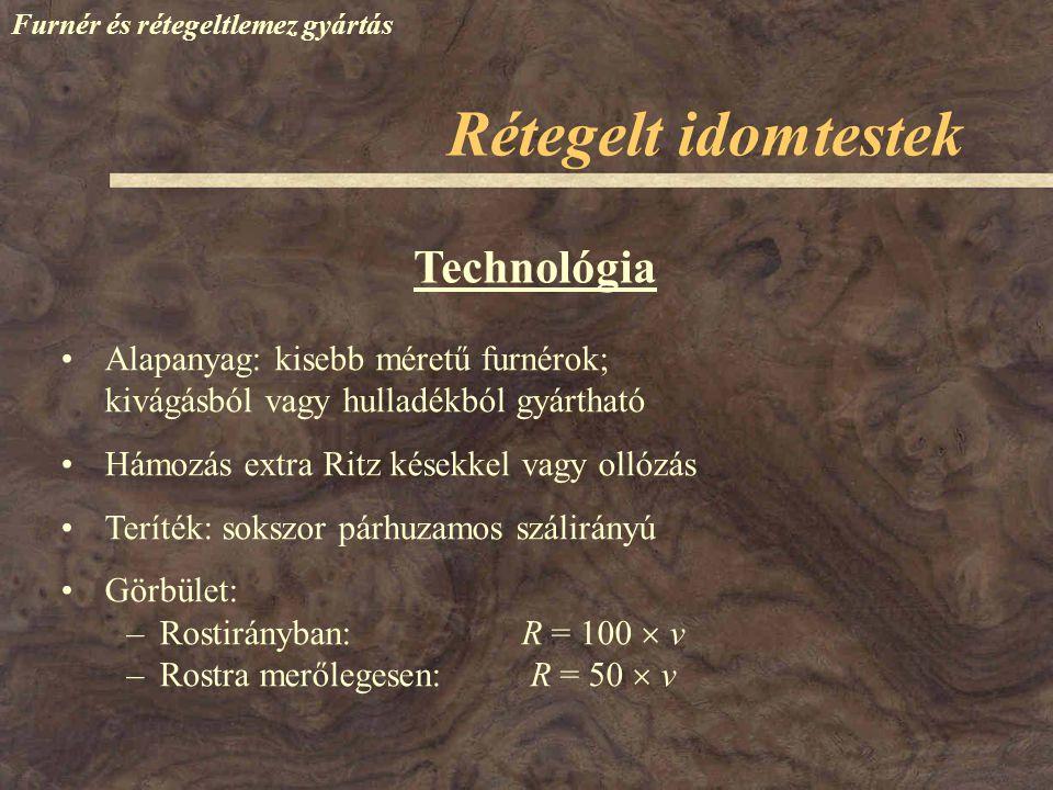 Rétegelt idomtestek Technológia