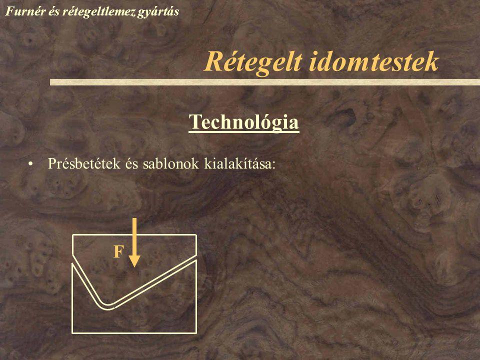 Rétegelt idomtestek Technológia F Présbetétek és sablonok kialakítása: