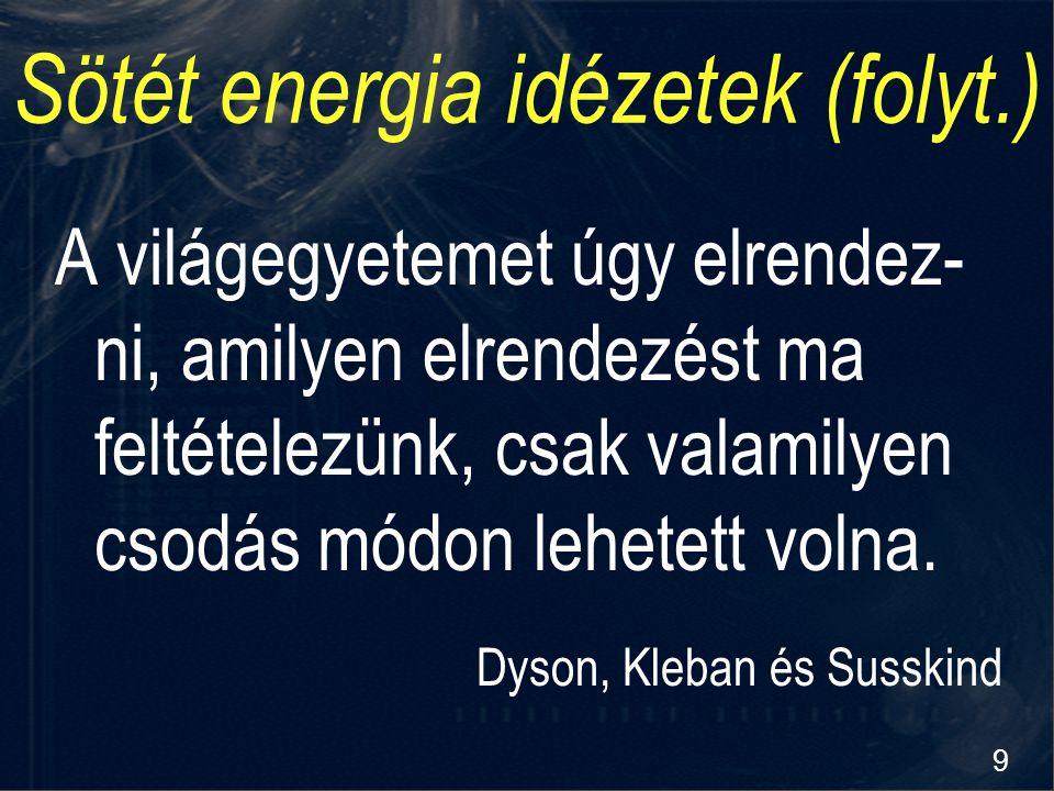 Sötét energia idézetek (folyt.)