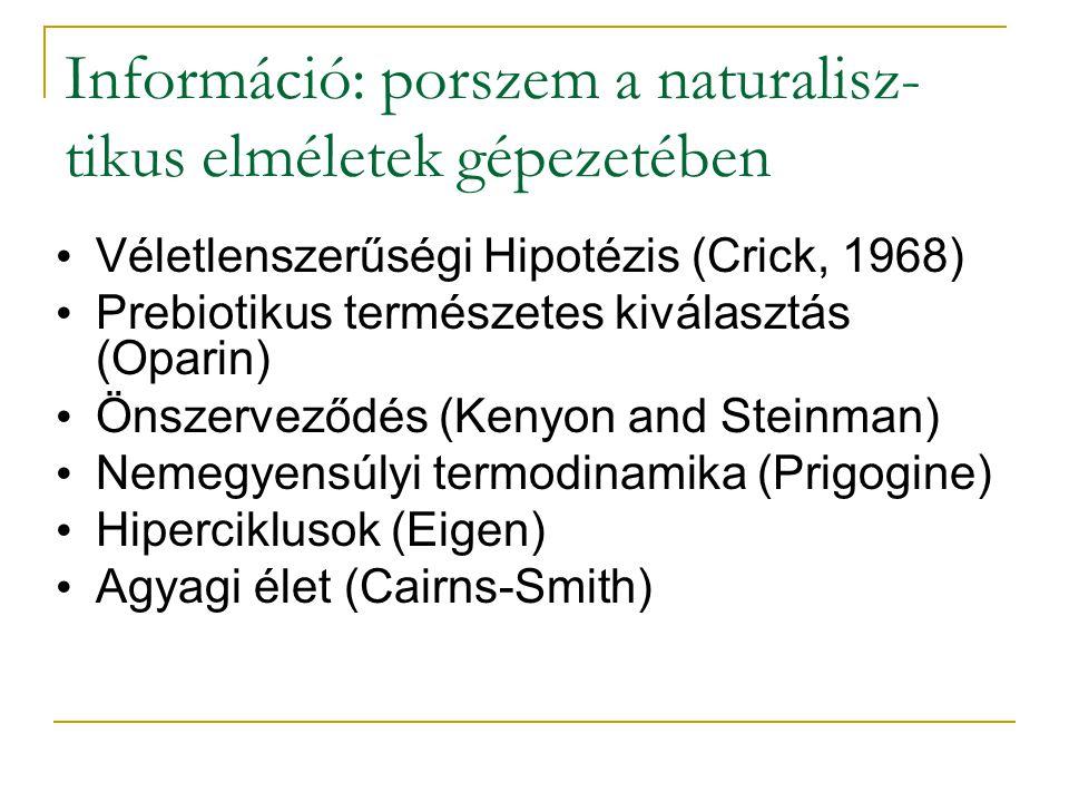 Információ: porszem a naturalisz-tikus elméletek gépezetében