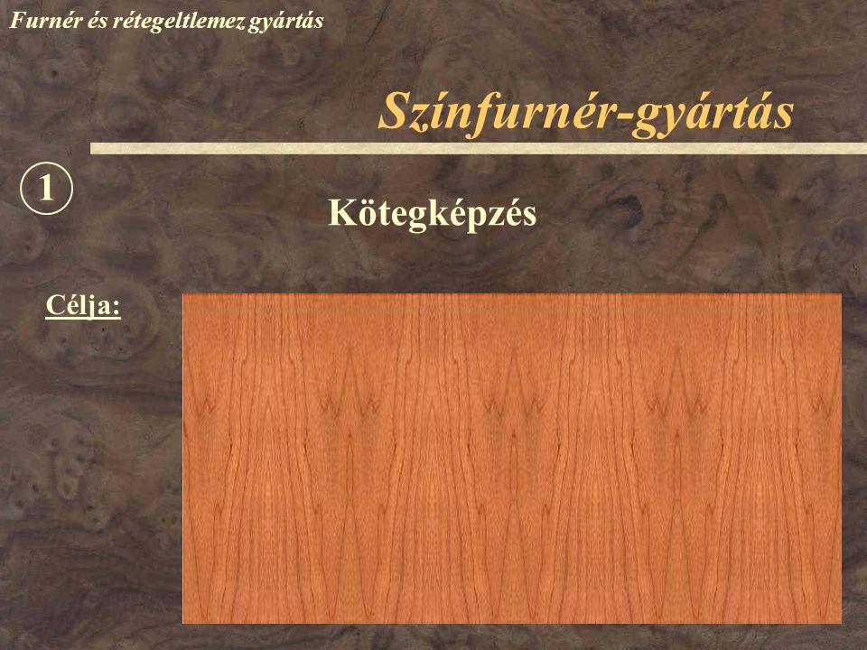 Színfurnér-gyártás 1 Kötegképzés Célja: