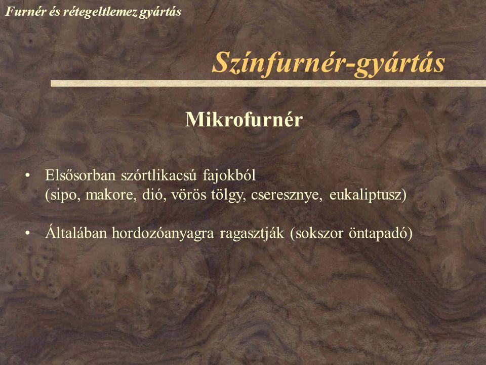 Színfurnér-gyártás Mikrofurnér