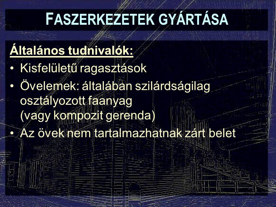 FASZERKEZETEK GYÁRTÁSA