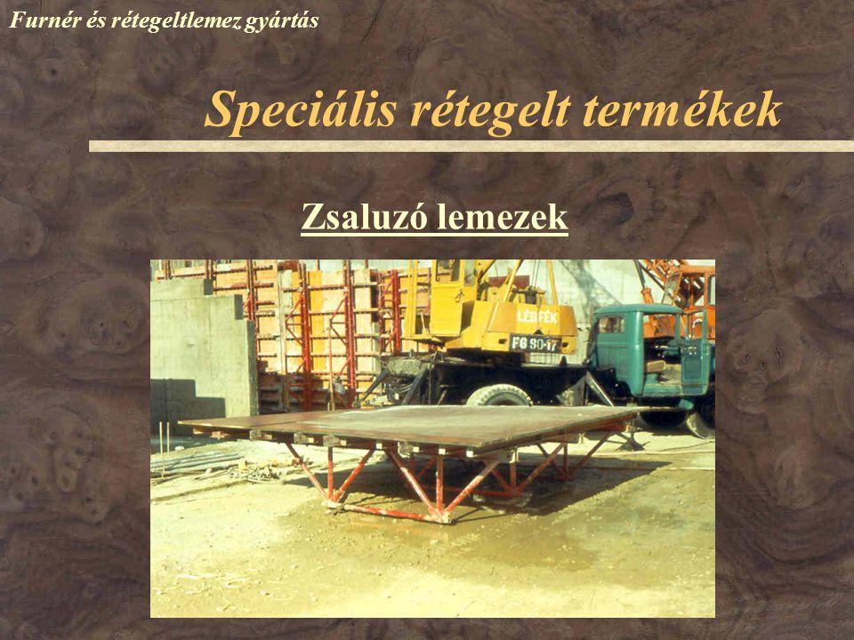 Speciális rétegelt termékek