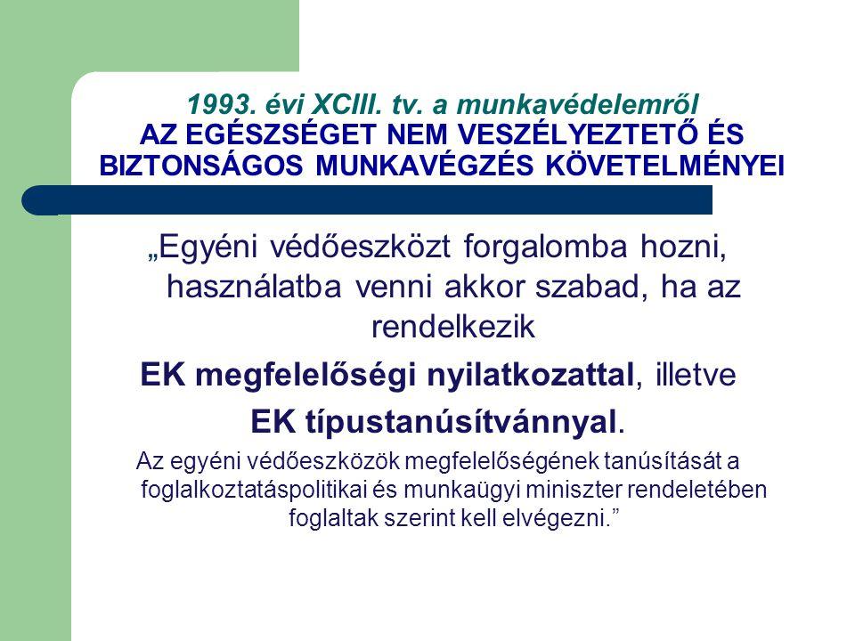 EK megfelelőségi nyilatkozattal, illetve EK típustanúsítvánnyal.
