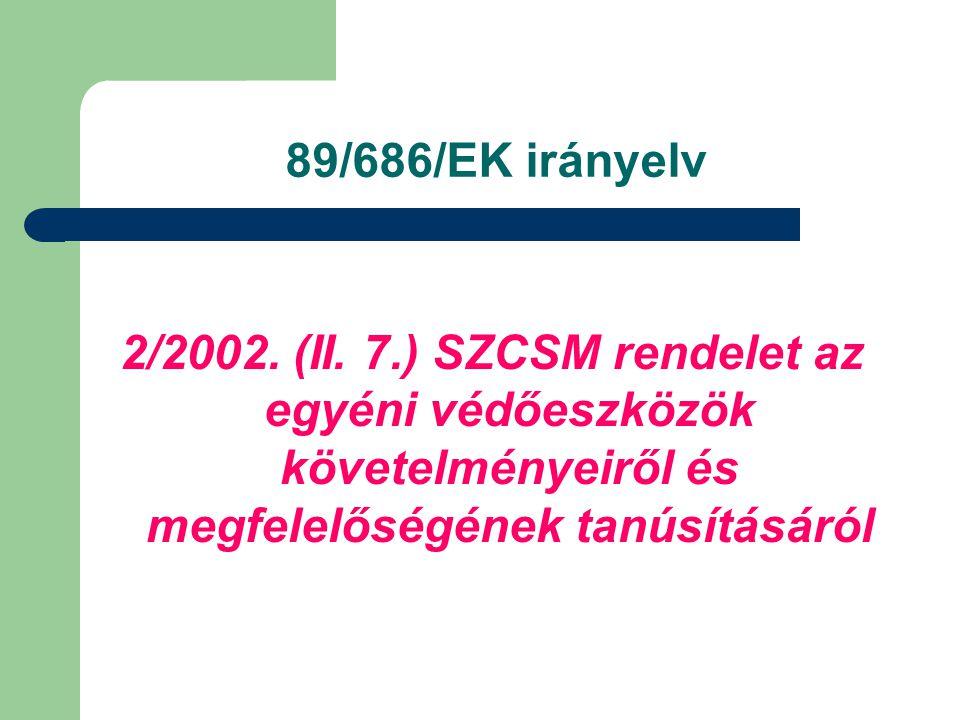 89/686/EK irányelv 2/2002. (II.