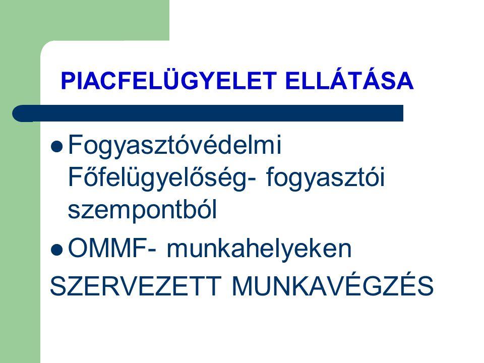 PIACFELÜGYELET ELLÁTÁSA