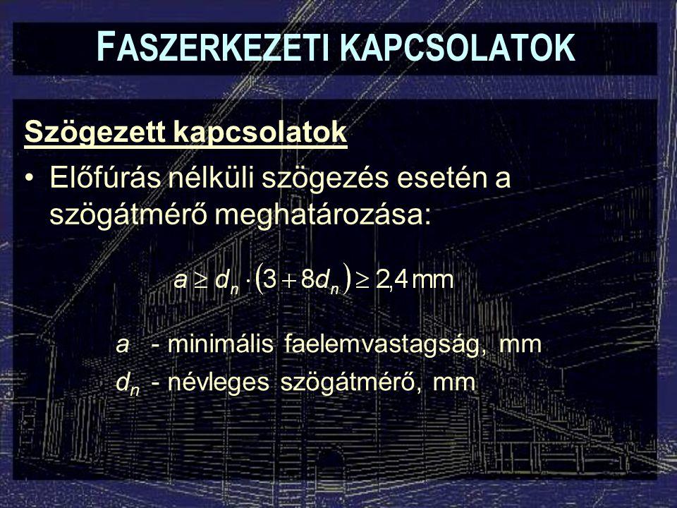 FASZERKEZETI KAPCSOLATOK