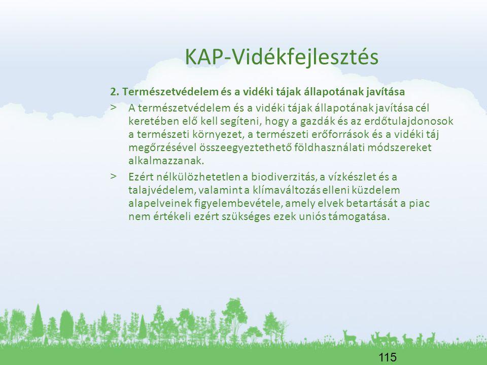 KAP-Vidékfejlesztés 2. Természetvédelem és a vidéki tájak állapotának javítása