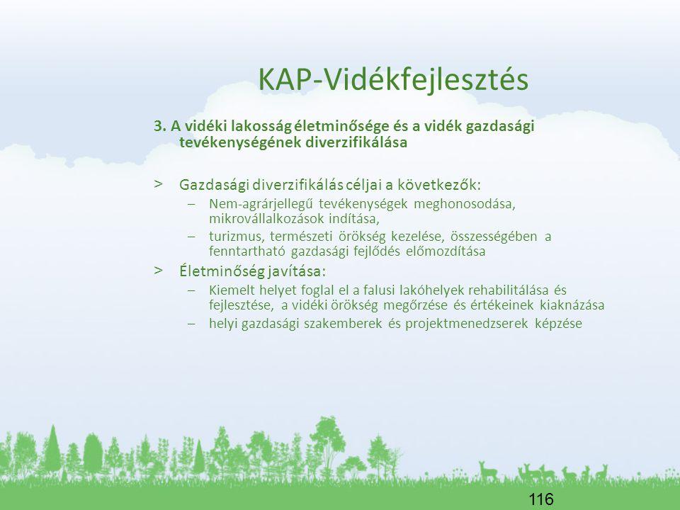 KAP-Vidékfejlesztés 3. A vidéki lakosság életminősége és a vidék gazdasági tevékenységének diverzifikálása
