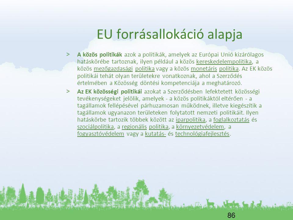 EU forrásallokáció alapja