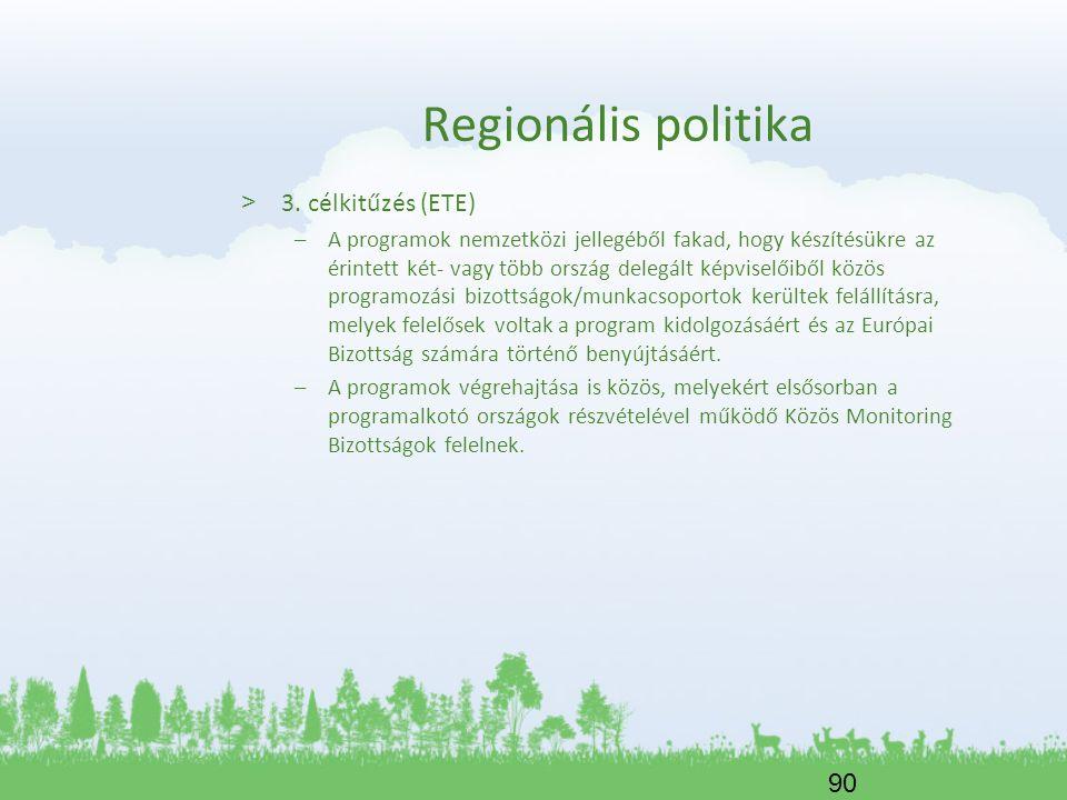 Regionális politika 3. célkitűzés (ETE)