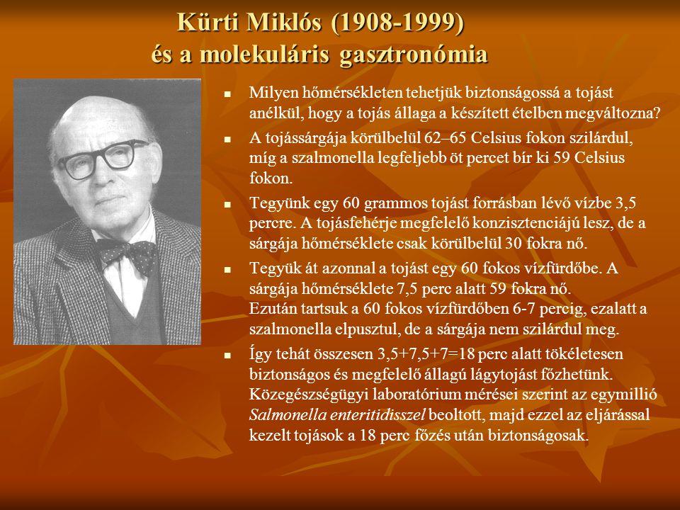 Kürti Miklós (1908-1999) és a molekuláris gasztronómia