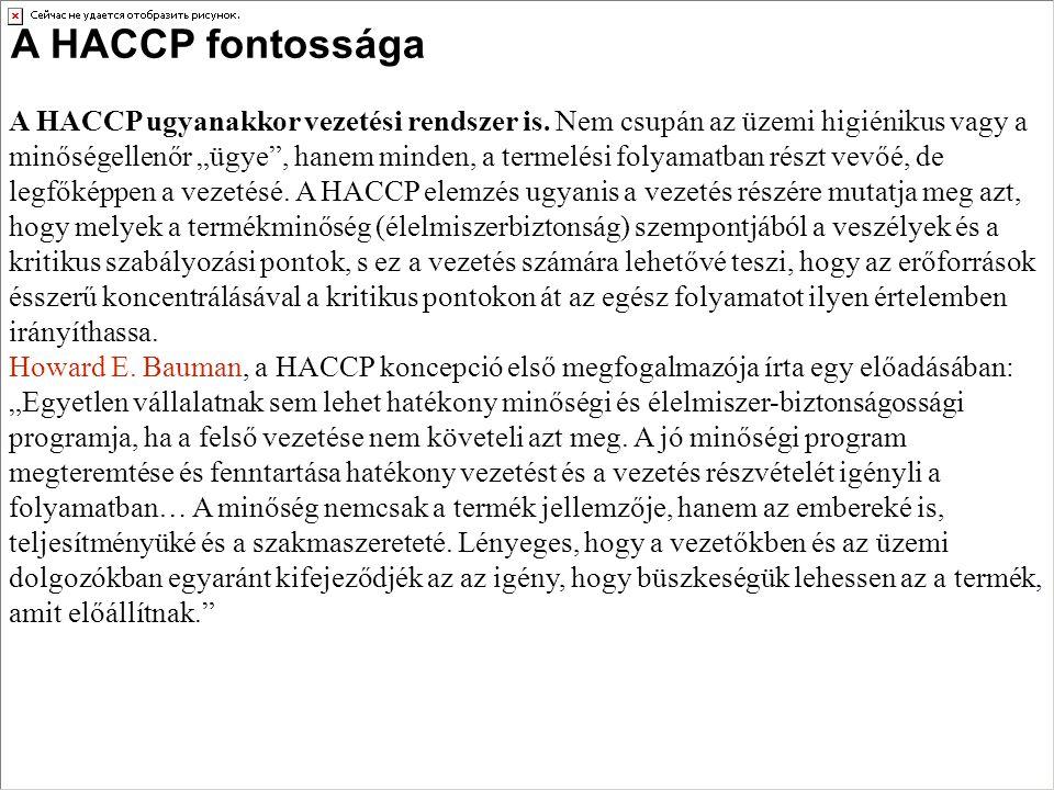 A HACCP fontossága