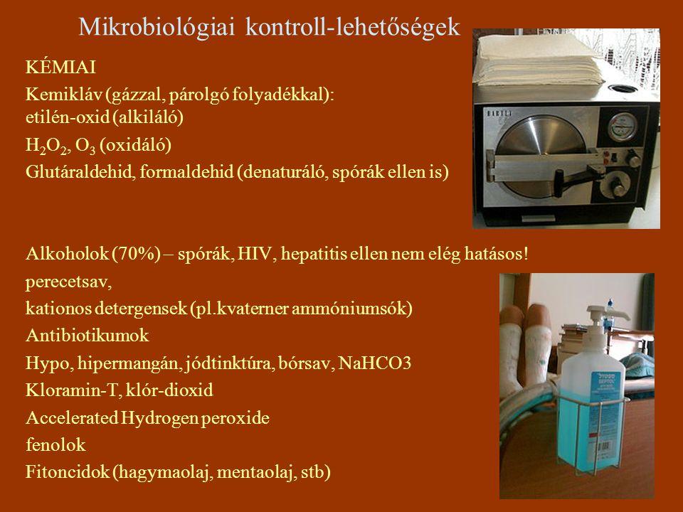 Mikrobiológiai kontroll-lehetőségek