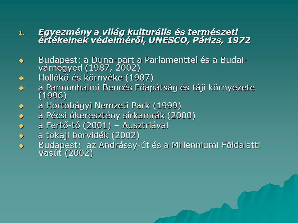 Egyezmény a világ kulturális és természeti értékeinek védelméről, UNESCO, Párizs, 1972