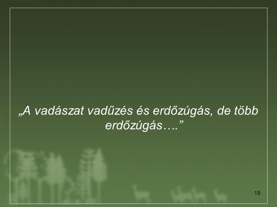 """""""A vadászat vadűzés és erdőzúgás, de több erdőzúgás…."""