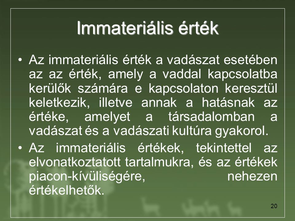 Immateriális érték