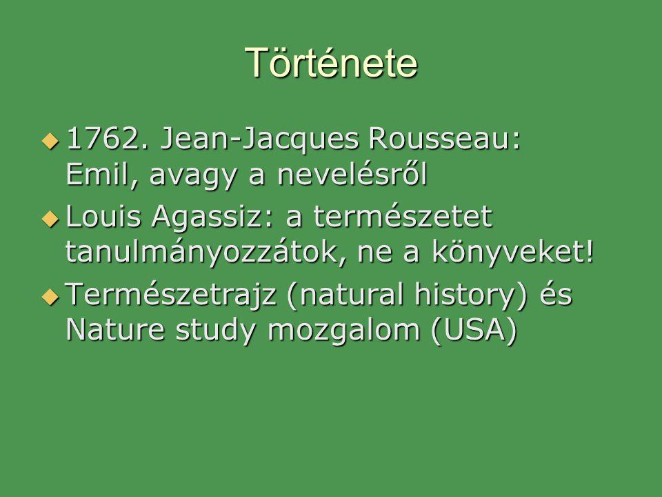 Története 1762. Jean-Jacques Rousseau: Emil, avagy a nevelésről
