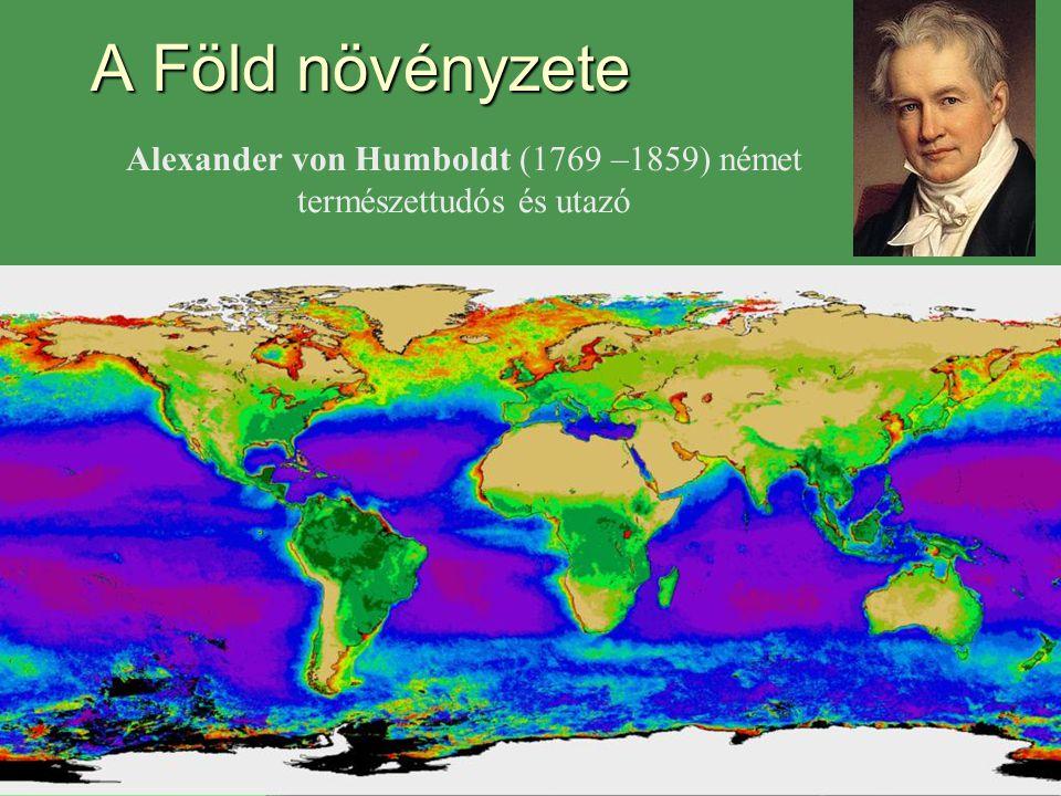 Alexander von Humboldt (1769 –1859) német természettudós és utazó