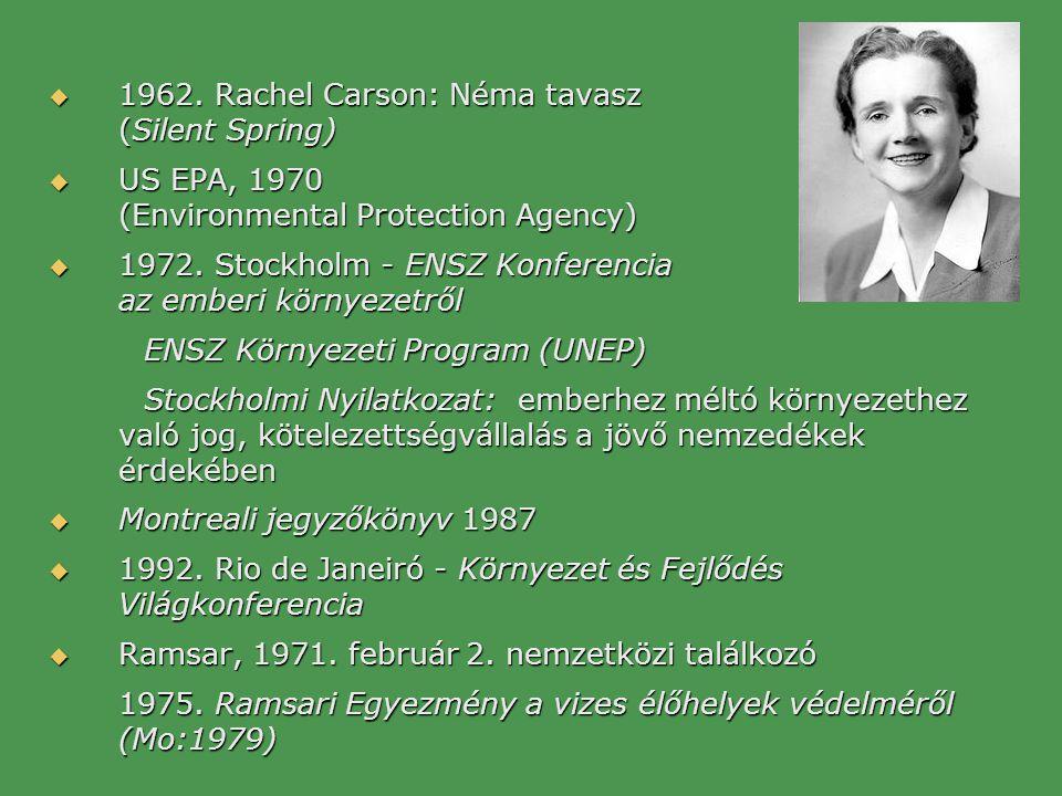 1962. Rachel Carson: Néma tavasz (Silent Spring)