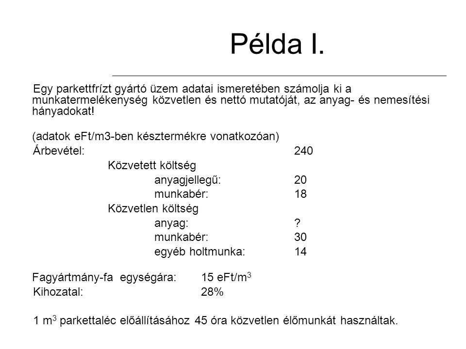Példa I.