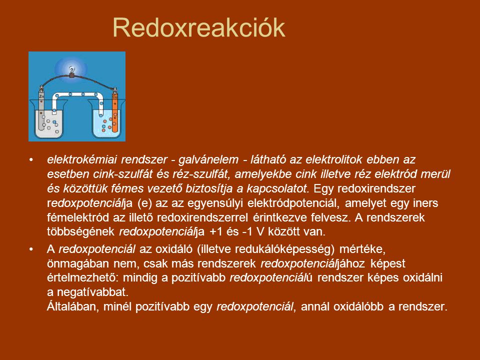 Redoxreakciók