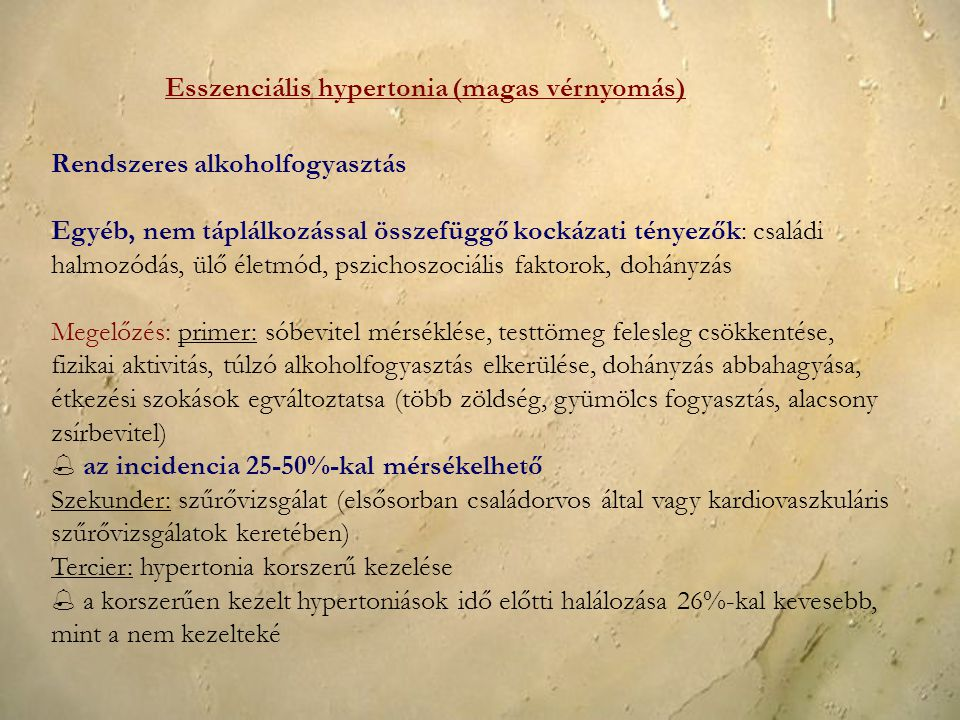 Esszenciális hypertonia (magas vérnyomás)