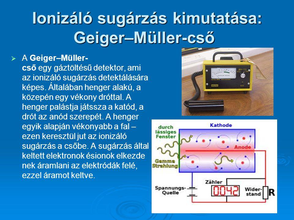 Ionizáló sugárzás kimutatása: Geiger–Müller-cső
