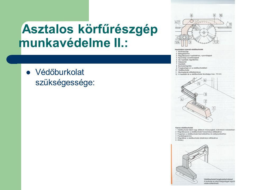 Asztalos körfűrészgép munkavédelme II.: