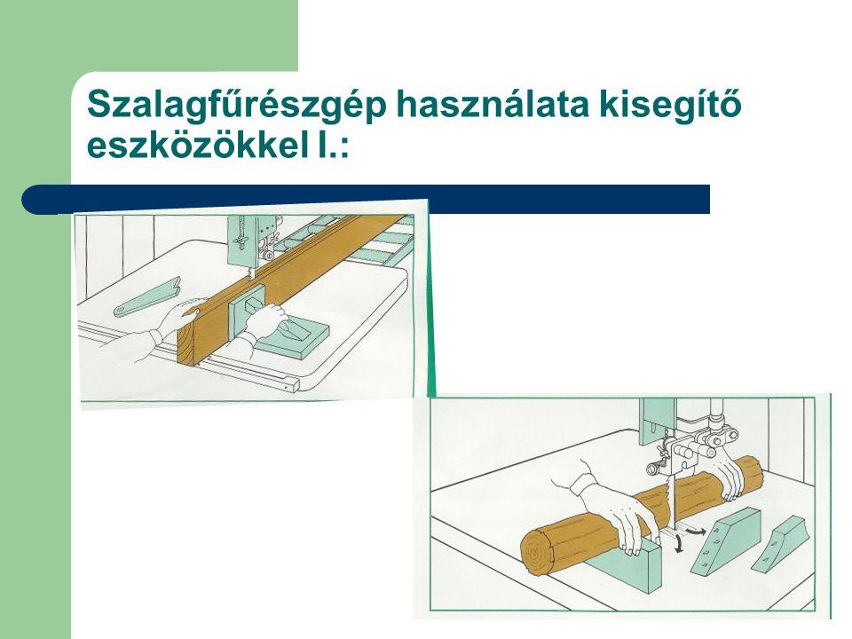 Szalagfűrészgép használata kisegítő eszközökkel I.: