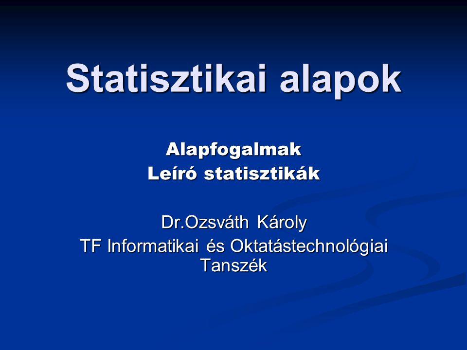 TF Informatikai és Oktatástechnológiai Tanszék