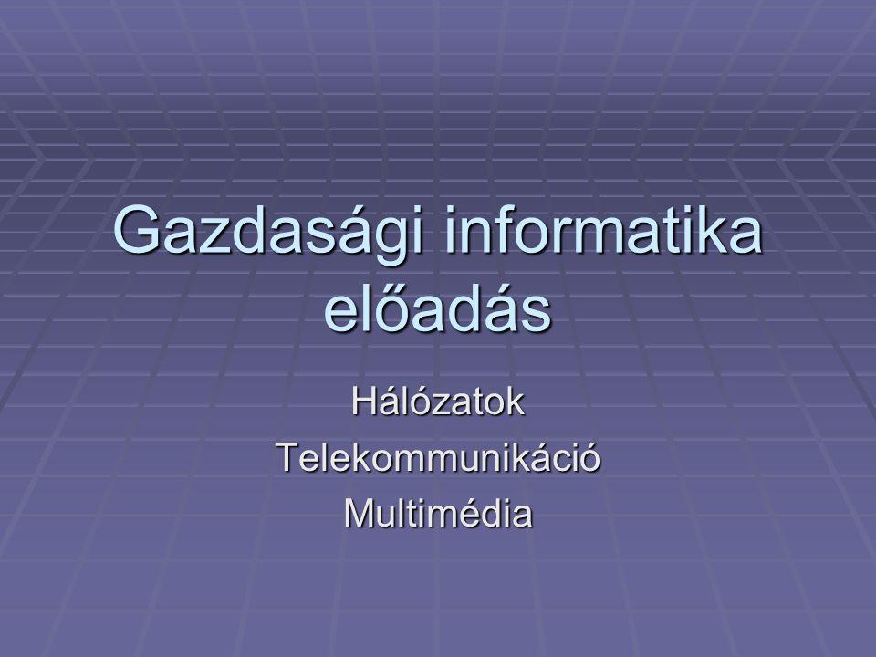 Gazdasági informatika előadás