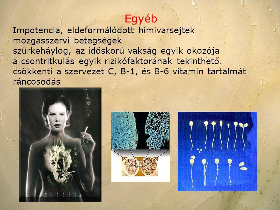 Egyéb Impotencia, eldeformálódott hímivarsejtek