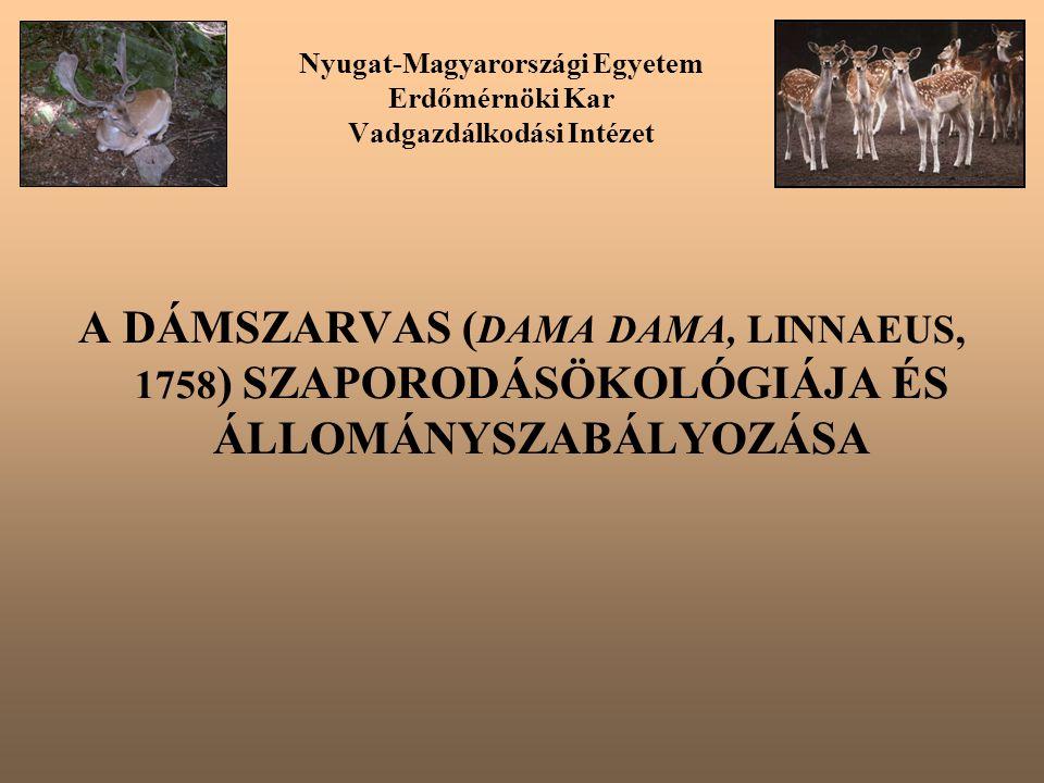Nyugat-Magyarországi Egyetem Erdőmérnöki Kar Vadgazdálkodási Intézet