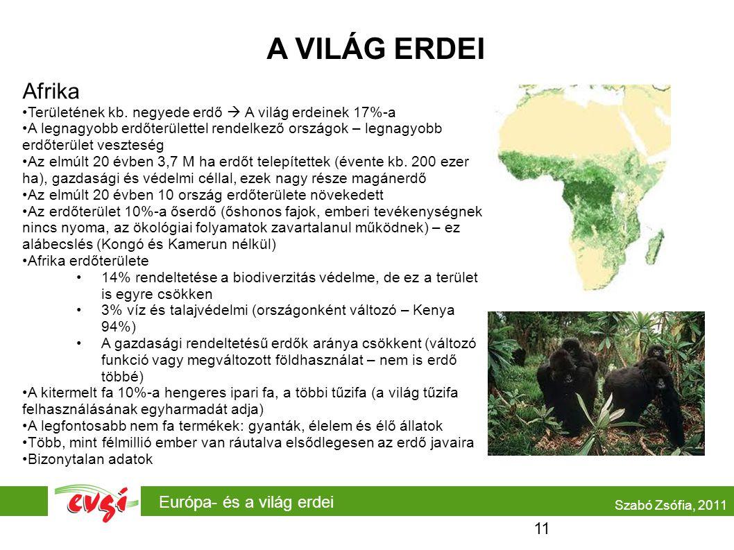 A VILÁG ERDEI Afrika Európa- és a világ erdei