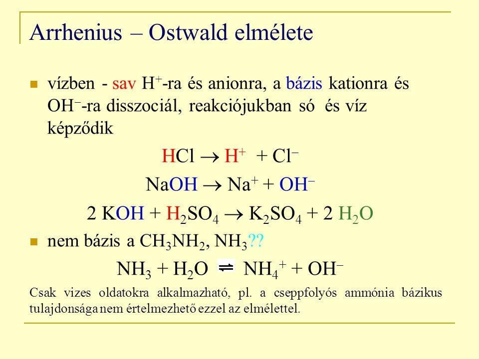 Arrhenius – Ostwald elmélete