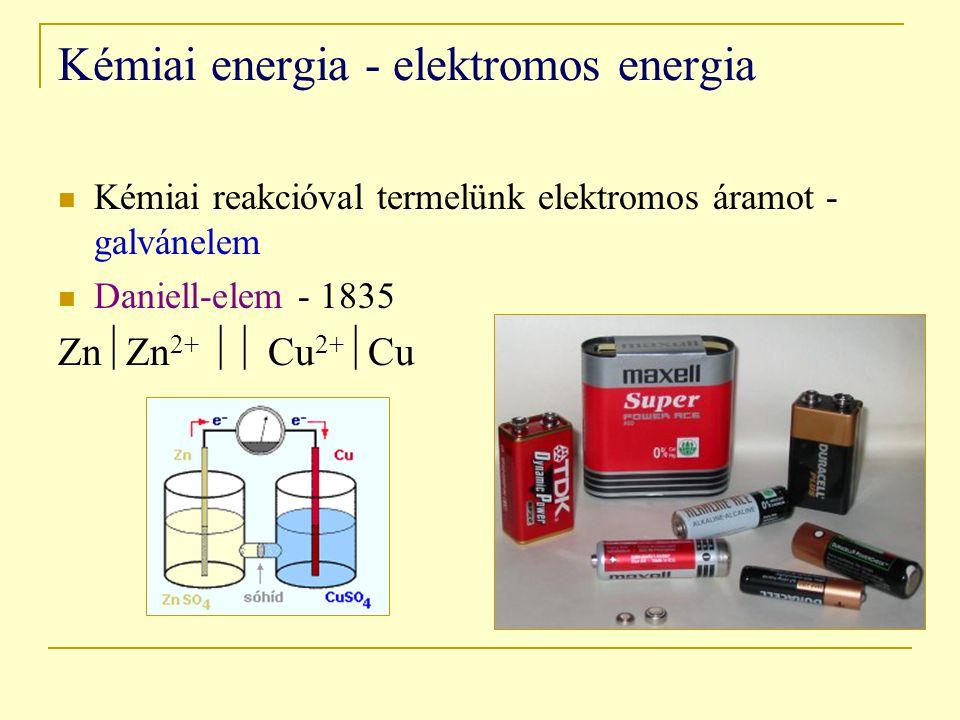 Kémiai energia - elektromos energia