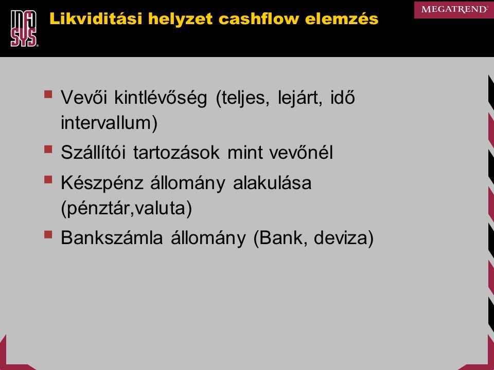Likviditási helyzet cashflow elemzés