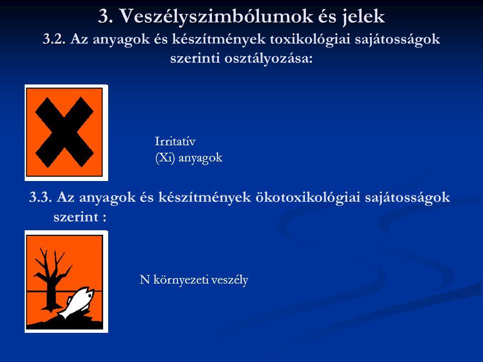 3. Veszélyszimbólumok és jelek 3. 2