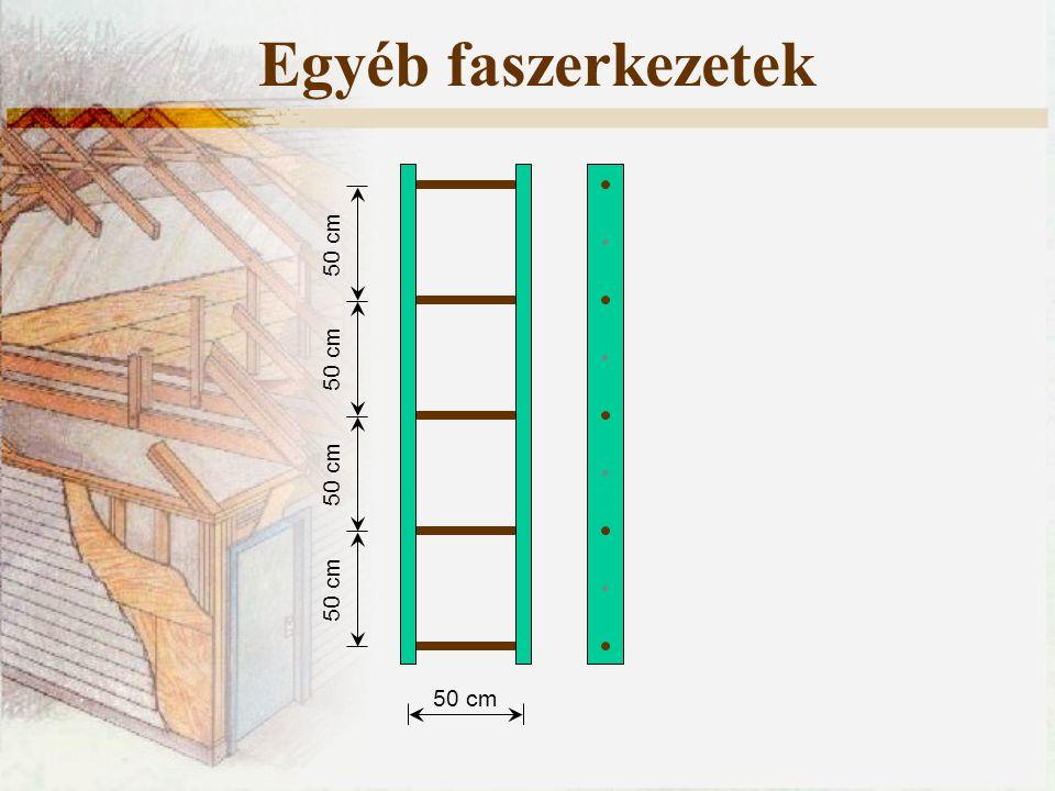 Egyéb faszerkezetek 50 cm 50 cm