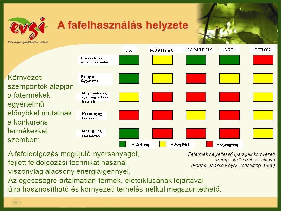 A fafelhasználás helyzete