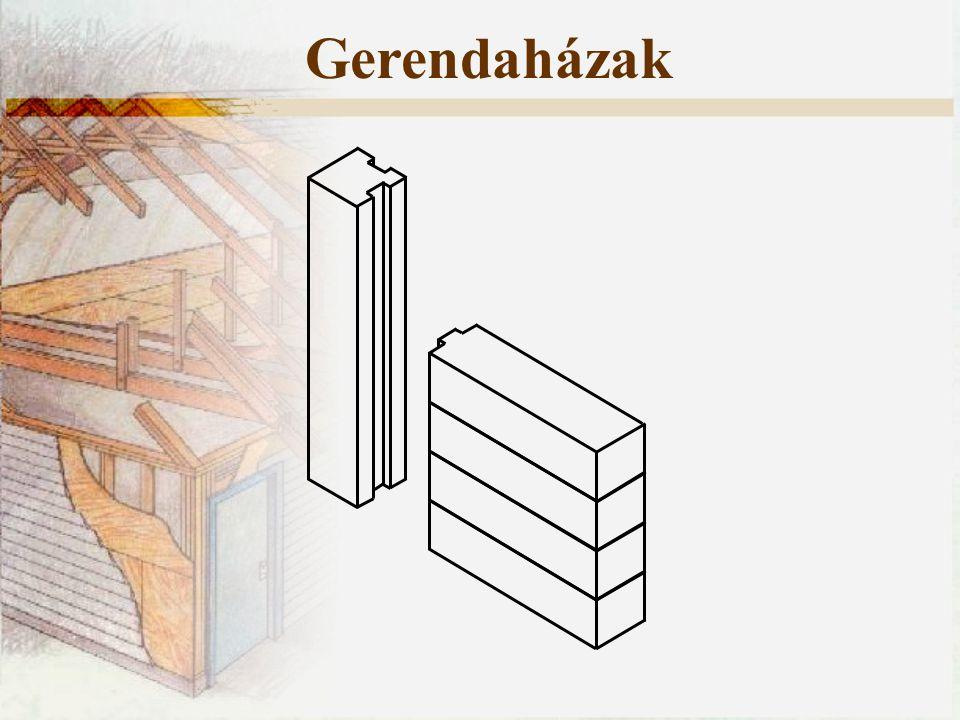 Gerendaházak Minden ház esetében két fő igénybevétellel számolhatunk: