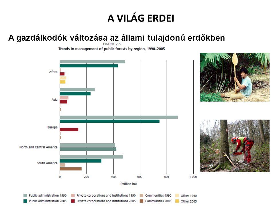 A VILÁG ERDEI A gazdálkodók változása az állami tulajdonú erdőkben