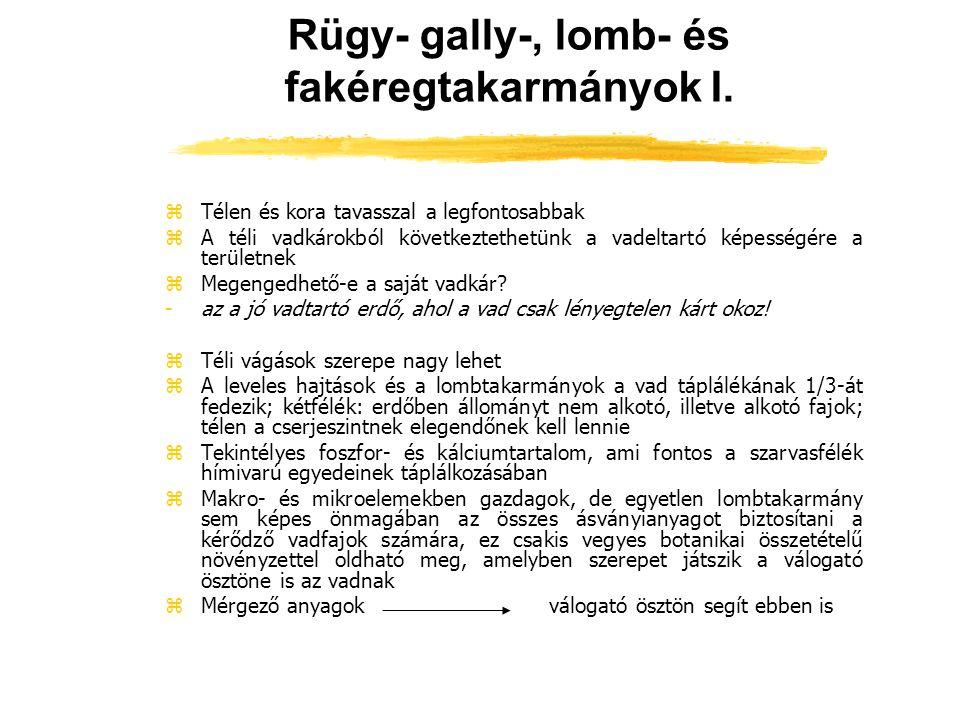 Rügy- gally-, lomb- és fakéregtakarmányok I.
