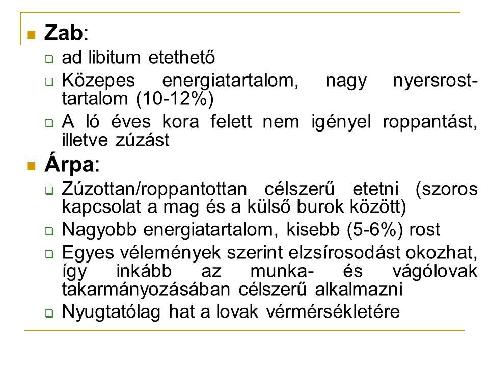 Zab: Árpa: ad libitum etethető